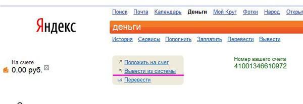 Фото обнуления своего Яндекс кошелька