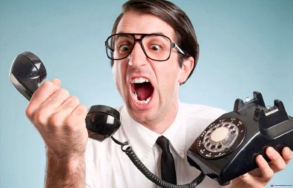 На фото - телефонный звонок от коллектора